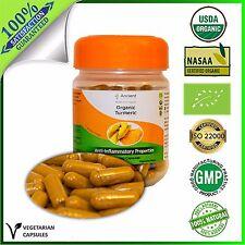 Organic 100% Turmeric Capsules - Supplement - 600mg - DETOX AGENT