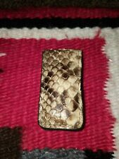 Snakeskin Magnetic money clip
