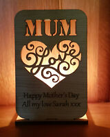 PERSONALISED TEA LIGHT CANDLE HOLDER GIFT MUM MUMMY MOTHERS DAY GIFTS FOR HER