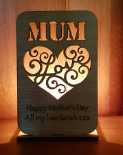 PERSONALISED TEA LIGHT CANDLE HOLDER CHRISTMAS GIFT MUM MUMMY OAK GIFTS FOR HER