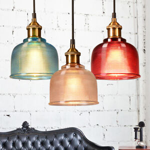 Vintage Industrial Retro Loft Style Glass Ceiling Wall Lamp Shade Pendant Light