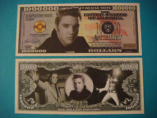 ELVIS PRESLEY: King of Rock n' Roll ~ $1,000,000 One Million Dollar Bill: USA