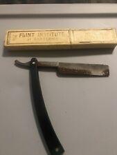 """SPIKE"" UNION CUTLERY CO. OLEAN, N.Y. ANTIQUE STRAIGHT RAZOR WITH BOX"