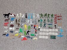 Vintage Marx & Other Plastic Farm Animals Military Cowboys & Other Figures