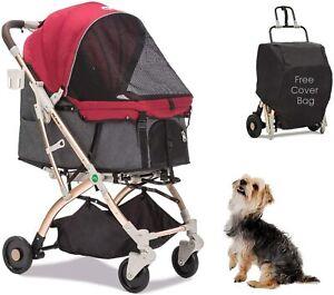 HPZ Pet Rover Lite Premium Light-Weight Dog/Cat/Pet Stroller - Red