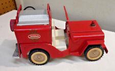L1594- Vintage 1950's Tonka Jeep Pumper Fire Truck
