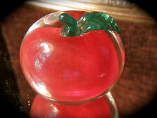 Vintage Encased Apple Paperweight Signed and Dated 1996