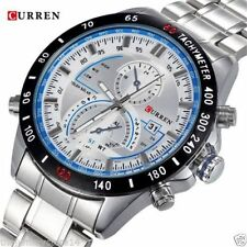 CURREN Brand Auto Calender Stainless Business Casual Watch For Men With Box