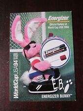 World Cup USA 94 Energizer Bunny E. B. Collector Card Promo Card With Stats! WOW