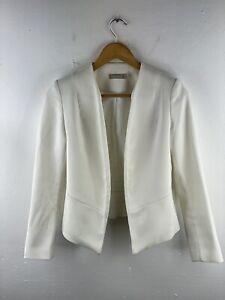 Forecast Open Jacket Womens Size 4 Ivory Long Sleeve Lined Wedding Formal