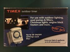 New Timex (TX12840X) Programmable Heavy Duty 24 Hour Mountable Outdoor Timer