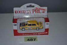 Poland Kolekcja PRLu Rajdowe Rally Polski Fiat 125P 1:43 Yellow Diecast Model