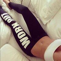 Damen Workout Sport-Fitness Hose Schwarz-Weiß OneSize für XS-S-M 34-36-38