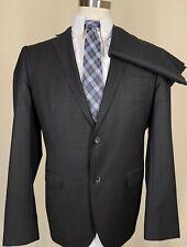 Men's Hugo Boss 42 R Charcoal Wool Two Piece Suit