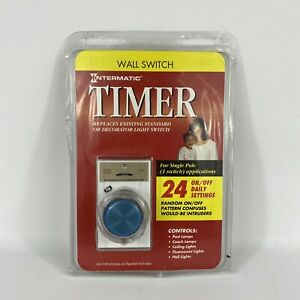 Intermatic EJ341C Programmable 24 Hour Wall Switch Security Timer Vintage 1997