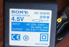 SONY UK AC-E45HG 4.5v DC 700mA Power Supply CD Walkman Discman Minidisc Adapter