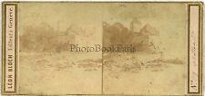Château de Chillon Suisse Stereo par Léon Bloch Genève Vintage albumine ca 1860
