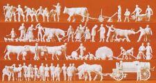 Preiser 16354 Auf dem Land, 52 unbemalte Miniaturfiguren 1:87 / H0