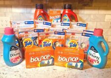 Tide Bundle (Tide Pods, Detergent, Bounce Sheets, Downy Fabric Softener)17 items