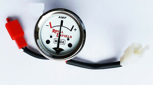 ROYAL ENFIELD BULLET AMP METER AMPERE GUAGE WHITE DIAL