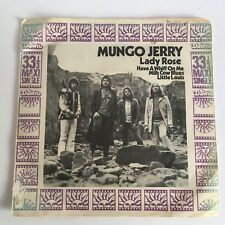 "Mungo Jerry Lady Rose/Milk Cow Blues 33rpm Maxi Single UK 7"" + Picture Sleeve"