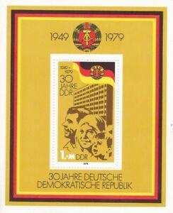 Block DDR Michel 56  postfrisch     '30 Jahre DDR'