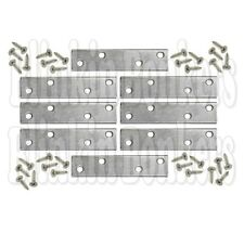 """4 X Straight 3"""" Mending Plate Strong Flat Repair Joining Fixing Steel Bracket"""