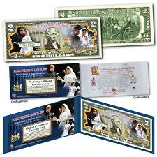 Royal Wedding OFFICIAL ROYAL PORTRAITS Prince Harry & Markle Genuine $2 US Bill