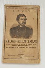 1864 Army Of The Potomac Report Of Major Gen. McClellan
