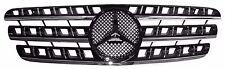 Front Grille Mercedes Benz W163 96-05 Chrome Strip & Moulding & Black w/Emblem