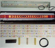 5 Stück 200mm LED Waggon Innenbeleuchtung Warmweiß Bausatz Analog/Digital C3213