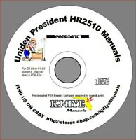 Uniden President HR2510 CD SERVICE & OWNER'S MANUALS + Conversion Info   CD ONLY