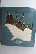 Lenox Ornament - Gold Sleigh - Ivory & Gold