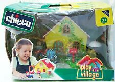 NIB CHICCO Play Village COTTAGE HOUSE with 4 rooms PEOPLE Car TRUCK pool