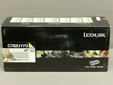Lexmark C782U1YG Yellow XL Extra High Yield Toner Cartridge C782XL New Seal Box