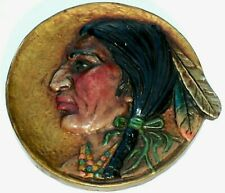 Vintage American Indian Wall Plaque