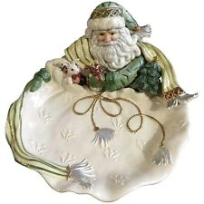 Nib Fitz and Floyd Gregorian Collection Christmas Santa Serving Bowl New 19/1318