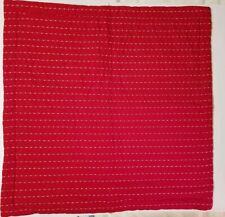 """Fiesta Ellison Dash Pillow Sham Cover Red Orange Cotton Quilted EURO  26""""x 26"""""""