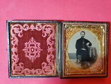Clear Original 6th Plate Civil War Soldier Tintype