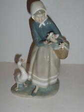 Lladro Shepherdess with Ducks Figurine, Retired