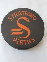 STRATFORD PERTHS OHA VICEROY MADE IN CANADA VINTAGE OFFICIAL GAME PUCK RARE GEM!