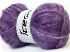 Lot of 4 x 100gr Skeins Ice Yarns MOHAIR Knitting Wool Purple Shades