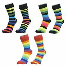 Ankle Socks with 'Rainbow' Colour Stripes (Size: 4-7)