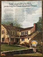 1976 Bird & Son Solid Vinyl Siding Print Ad Protecting the Great American Dream