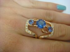 Anelli di lusso con gemme in oro giallo 14 carati Misura anello 5