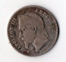 RARE MONNAIE DE 50 CENTIMES NAPOLEON III EMPEREUR ARGENT 1866 BB @ SILVER COINS