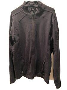 Mens  Lululemon Jacket Black Large Zipper Pockets