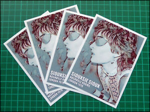 SIOUXSIE SIOUX, Exclusive Set of FOUR Glossy Vinyl Promo Stickers Banshees, PUNK