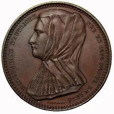 1848 Belgium Margaret OF Austria Dutchess Of Savoy AE Medal  By Adolphe Jouvenel