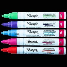 Sharpie Oil-Based Paint Markers 1770459, 5 Assorted Fashion Colors, Medium Point